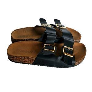 Anna black buckle straps sandals Size 6